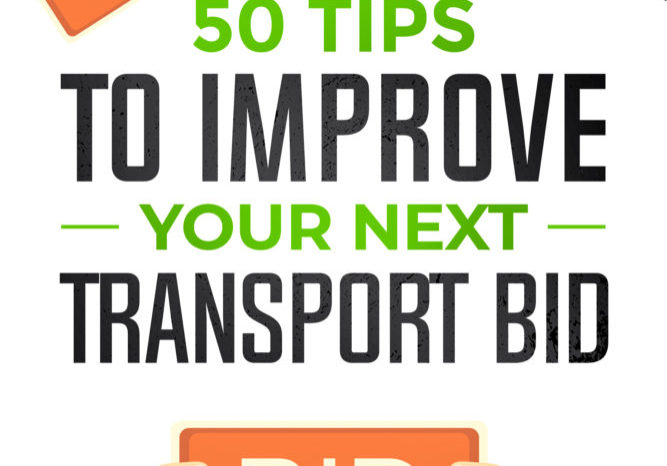 50 tips to improve your next transport bid